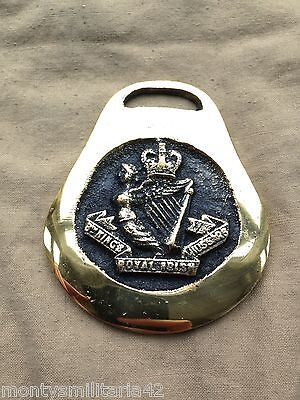 Excellent Vintage British Army 8th Kings Royal Irish Hussars  Horse brass