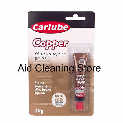 Carlube Copper Slip Grease Tube 20g Anti Seize Assembly Compound Grease