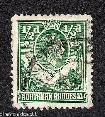 1938 Northern Rhodesia 0.5d Green SG 25 Good Used R9897