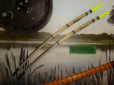 """TRADITIONAL HANDMADE 9"""" GOOSE QUILL FISHING FLOATS x2 Yellow"""