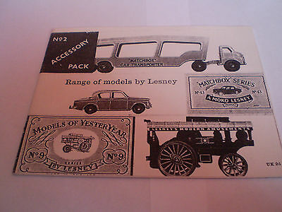 Matchbox Photocopy Toy Catalogue 1960 Uk Edition Excellent Condition