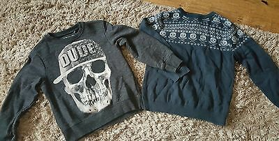 Boys age 5-6 years skull jumpers x2