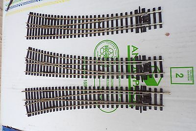 PECO 1 long left hand & 2 long right hand Curved Electrofrog points code 75