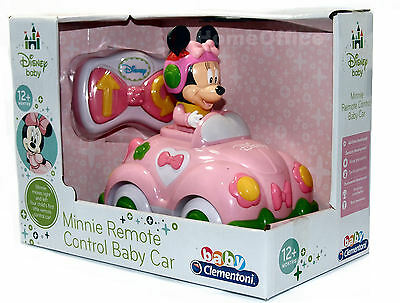 Disney Minnie  Mouse Baby Remote Control Car  Toy New Age 12 Months Plus