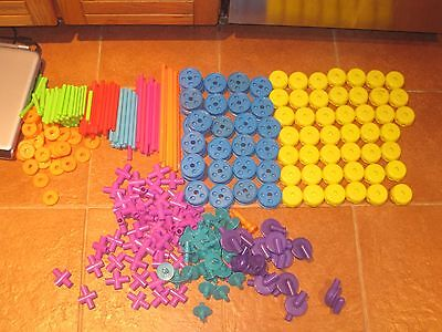 Lot of 315 Tinker Toys Plastic Straight Circle Connectors