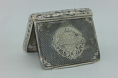 Antique Original Silver Ottoman Armenian Amazing Cigarette Case