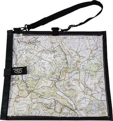 Highlander WANDER PV FOLDABLE Map Case Cover Walking Hiking Black Clear View