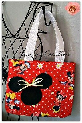 Handcrafted Minnie Mouse Toddler Girl play purse tote handbag