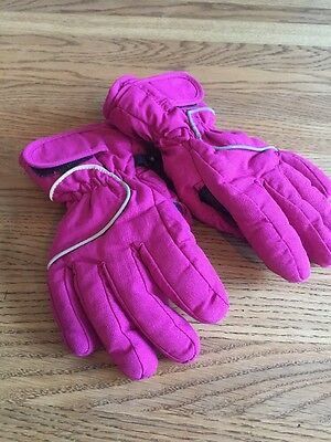 Girls Ski Gloves Waterproof Size Small Approx 4-6 Years Pink