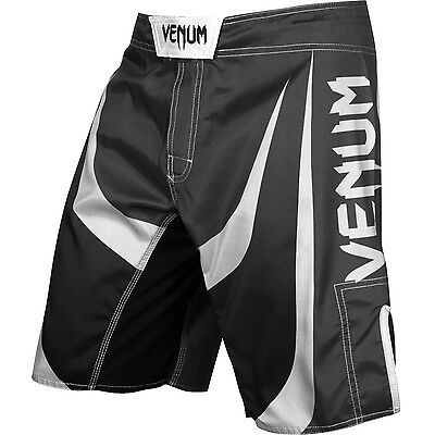 Venum Predator Fightshorts - black/white 02673 - MMA Hose - Fight Short Shorts