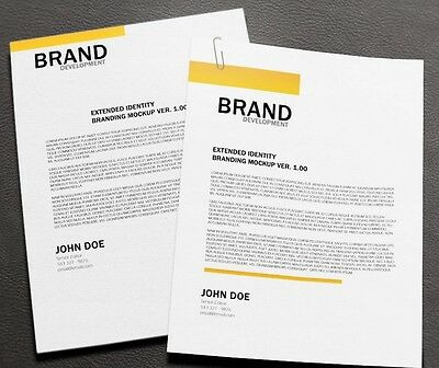 Professional Bespoke Custom Letterhead Design  - Unlimited Revisions 24HR