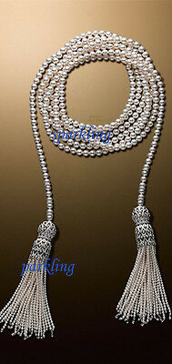 Victorian Vintage Styl 5.20Ct Rose Cut Diamond Pearl Beautifull Necklace