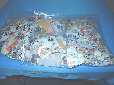 Job Lot From Clearance 3 Large Bags Gb Stamps On Paper (1) Freepost Uk Only