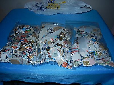 Job Lot From Clearance 3 Large Bags Gb Stamps On Paper (3) Freepost Uk Only