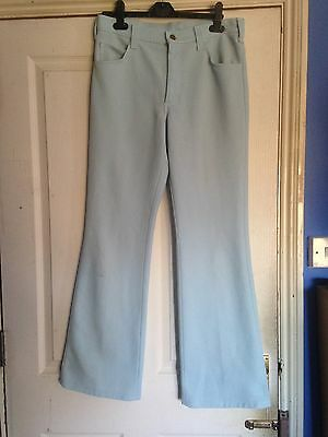 Lee Baby Blue Boot cut Trousers Vintage 70s