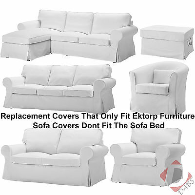 IKEA Ektorp Replacement Blekinge White Sofa, Footstool, Chair or Armchair Covers