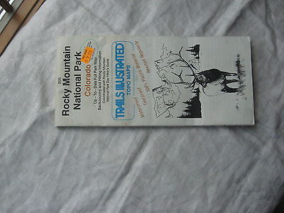 Rocky Mtn. National Park Trails Illustrated Topo Map...waterproof 1995 Issue