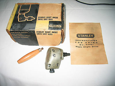 Stanley Right Angle Drive Unit H351, with original box & instructions