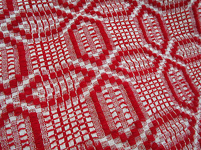 """1930's Antique Vtg. RED Hand Woven Sheep Wool Romanian KILIM Blanket 88X93"""""""