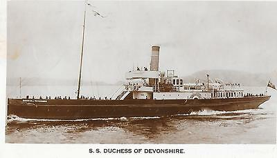 Paddle Steamer, S.S. Duchess of Devonshire. Post Used 1934,  RP