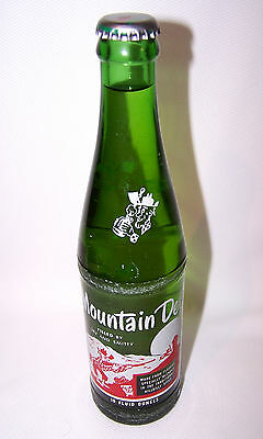 Vintage 60's Hillbilly Mountain Dew Unopened Bottle 10 oz FILLED BY IRV & SMITTY