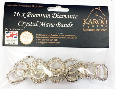 Karoo Equine Crystal Plaiting Bands x16 pack