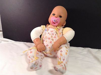 "Zapf Creations Interactive Giggles Chou Chou Giggles Doll 17"" with Pacifier VGC"