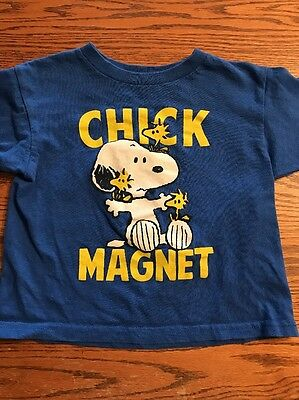 Peanuts, Snoopy, Chick Magnet Toddler Boys Size 3T Long Sleeve Tee Shirt