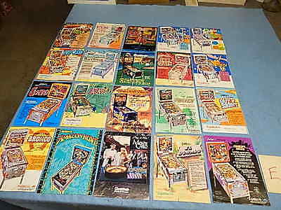 Pinball Advertising Flyers - Gottlieb - group of 20 (E)