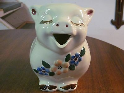 "Shawnee Pottery Pig Pitcher ""Smiley"""