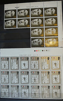 Commemorative stamps unmounted mint blocks, sets and singles 12