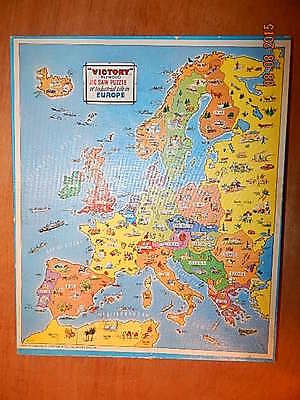 Wooden Jigsaw Puzzle  -  A Victory Map Of Europe, Complete