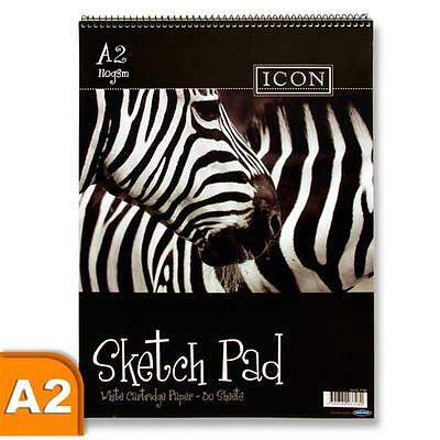Premier Stationery Icon A2 Size  110 gsm  30 Sheets Spiral Sketch Pad-S2837273