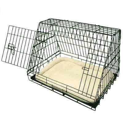 Ellie-Bo Deluxe Sloping Puppy Cage Folding Dog Crate with Non-Chew Metal Tray F