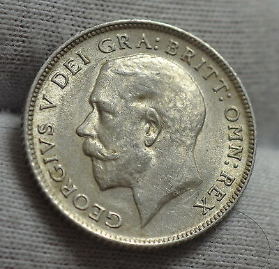 GB King George V . 1918  Sixpence 6d.  **High Grade** Nice coin**.