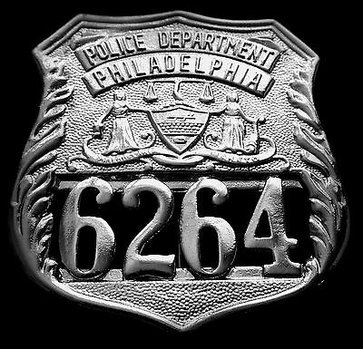 obsolete USA badge...PHILADELPHIA no.6264 ..COLLECTOR'S POLICE BADGE