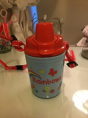 Rainbows Branded Drinking Cup/Bottle. With Detachable Neck Cord. Leakproof.