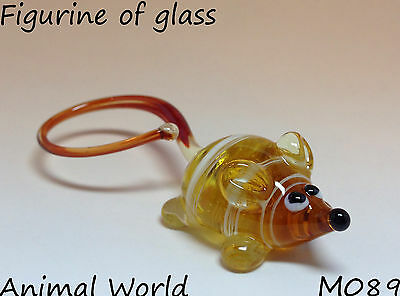 Figurine Blown glass Mouse Souvenirs of Russian art home decor