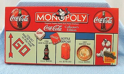 """COCA-COLA MONOPOLY COLLECTOR EDITION """"IT'S the REAL THING"""" C 1999 AGES 8+"""