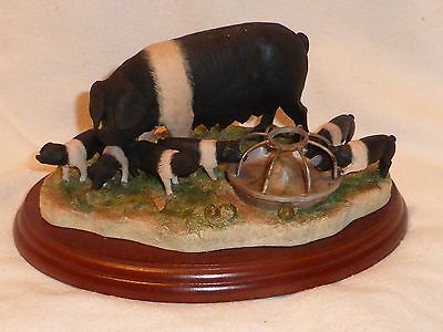 Border Fine Arts Pig Figurine Never Satisfied B0442B Sow And Piglets
