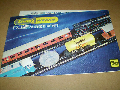 Triang Wrenn Model Railways Catalogue 1973 Edition +P/list Excellent For Age