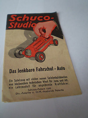 SCHUCO STUDIO OPERATING INSTRUCTION TOY CATALOGUE 1950's GERMA EDITION EXCELLENT