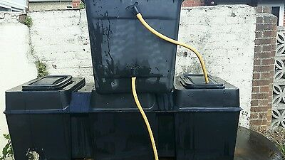 2 cold water storage tank 341 litres total 227/114 used for pure water