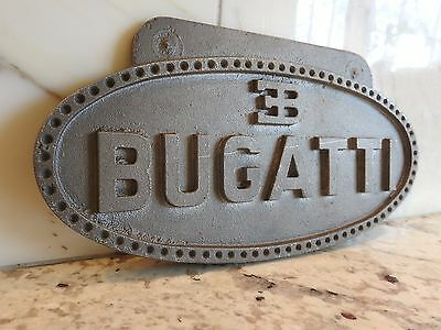 "Bugatti Plaque Emblem - Owned by Legendary Collector Bob Shaw (9 3/8"" x 4 3/4"")"