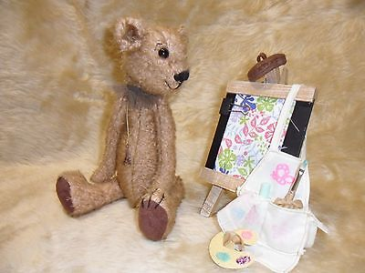 Ooak artist teddy bear fully jointed and weighted collectable