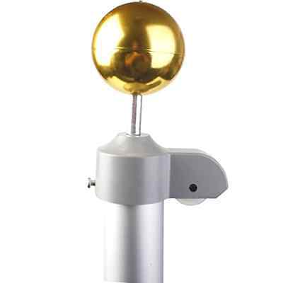 FDS 20 FT Aluminium Flag Pole w/Two Flags & Gold Ball