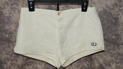 Vintage 1950s Mens Catalina White Swim Trunks Cotton lined Size 32