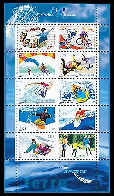 TIMBRES FRANCE BLOC Les sports de glisse 2004  N° 76 NEUF ** LUXE