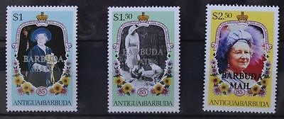 1985 Life and Times of Queen Mother Antigua Barbuda Opted Barbuda Mail MNH