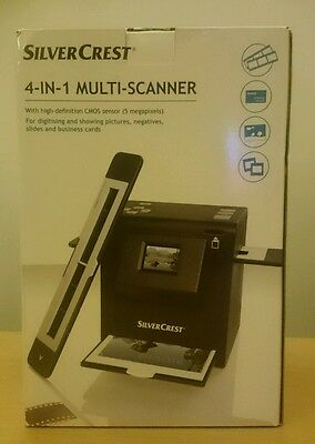 Silvercrest 4 in 1 multi scanner high definition CMOS photo picture slides NEW